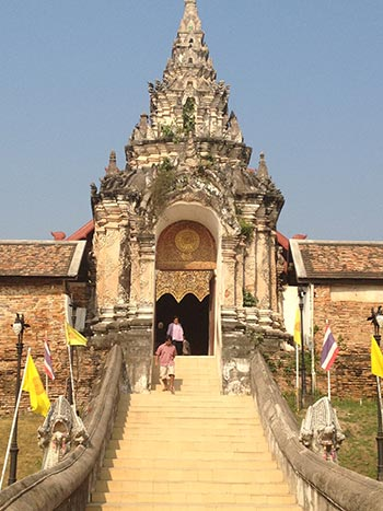 Entrance to Ban Lampang Luang – oldest Wat in Northern Province Thailand