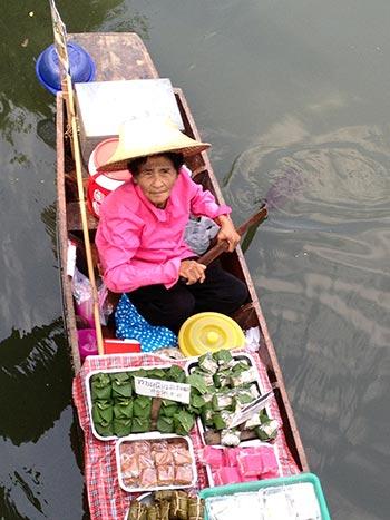 Food Sales on the Floating Market, Bangkok