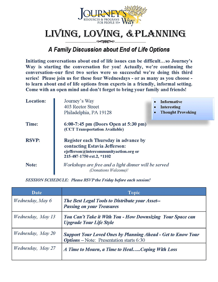 Living, Loving & Planning: A Family Discussion about End of Life Options